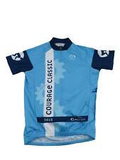 Primal Men's Courage Classic 2015 Running Cycling Bike Jersey XS Full Zip Blue