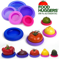 Food Huggers Flexible Reusable Silicone Fruit Vegetable Savers Storage Lid (x5)