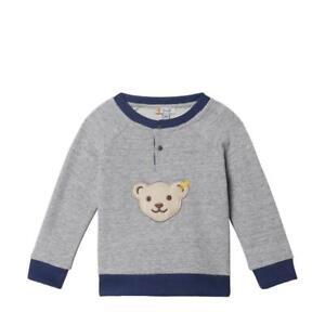 19/20-Steiff blue winter Sweatshirt mit Quietsch + Knopfleiste,grau 1120  gr.98