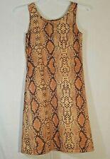 Koah Snake Print Sleeveless Cover Up Dress Womens Size Small Pool Beach or Club