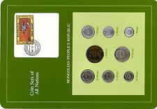 Coin Sets of All Nations Mongolia w/card 1971-1981 UNC 2 Mongo 1980 Tugrik 1971