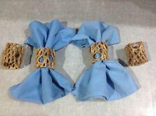 4 ORGANIC CHOLLA CACTUS WOOD NAPKIN RINGS CLEANED,SANDED,SEALED *SOUTHWESTERN