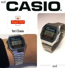 CASIO Retro Classic Unisex Digital Steel Bracelet Watch-A168WA-1YES Silver UK