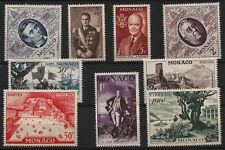 1956 Washington Lincoln Roosevelt Truman Columbus Monaco Mint Stamps Scot 354-62