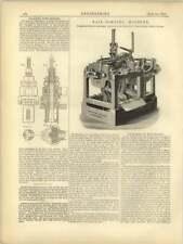 1877 Selkirk's Tube Reader, Taylor Challoner Nail Forging Machine