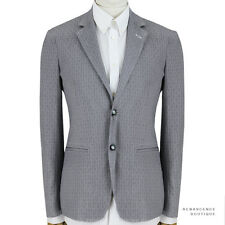 Alexander McQueen Grey Tailored Slim-Fit Check Pattern Jacket Blazer IT48 UK38
