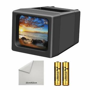 3X Magnification 35mm Slide Viewer LED Transparency Viewer Handheld Viewer for 35mm Slides /& Film Negatives