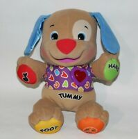 Fisher Price Interactive Laugh & Learn Puppy Dog Plush Singing Heart Talking ABC