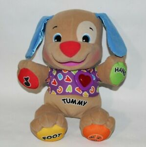 Fisher Price Interactive Laugh & Learn Puppy Dog Plush ABC Singing Heart Talking