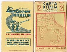TOURING CLUB ITALIANO  CARTA D'ITALIA  FOGLIO 2 - TRENTO - BOLZANO - UDINE