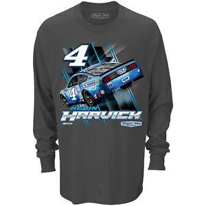 Kevin Harvick #4 Busch Light Speedster Long Sleeve Nascar Gray Tee Adult XL