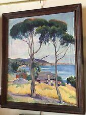 """VIRGENE HAWTHORNE OIL 1935 """"SEASIDE VIEW"""""""