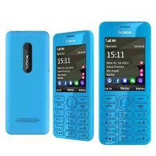Original Unlocked Nokia 206 Dual SIM MP3 1.3MP Camera 2.4'' Radio Blue Phone