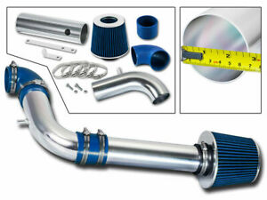 BLUE COLD AIR INDUCTION INTAKE KIT+FILTER CHEVY 97-03 S10 PICKUP GMC SONOMA 2.2L