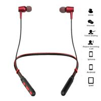 Wireless Bluetooth Headphones Neck Hang Sport Running Stereo Super Bass Headset