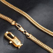 18K 750 CADENA DE ORO MACIZO cadena bañado en oro 6mm Collar de Caballero Regalo