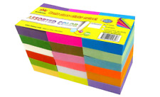 100 Adhesive Self Sticky Notes Neon Assorted Colors Reminder Note Sheets 18 Pads
