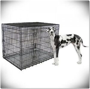 XXL Large Dog Crate Kennel Extra Huge Folding Pet Wire Cage Giant Breed Size