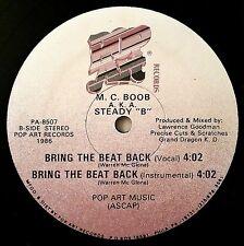 1986 - M.C. BOOB A.K.A. STEADY B - YO MUTHA / BRING THE BEAT BACK - POP ART OG