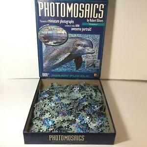 Photomosaics Dolphin Puzzle Jigsaw 1000 pc Robert Silvers Buffalo Games Complete