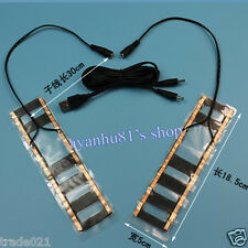 One Pair 5V 8W USB Heater Heating Element Film Pad Warmer for Warm Knee Shoes