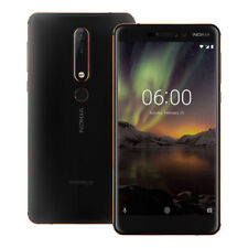 "NEW Nokia 6.1 (2018) (TA-1068) 5.5"" 4GB / 64GB LTE Dual SIM UNLOCKED BLACK"
