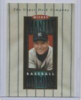1994 UPPER DECK BASEBALL HEROES MICKEY MANTLE HEADER NEW YORK YANKEES HOF SP