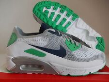 NIKE AIR MAX 90 ULTRA 2.0 FLYKNIT ID WHITE-GREY-BLUE-GREEN SZ 12 [914123-992]
