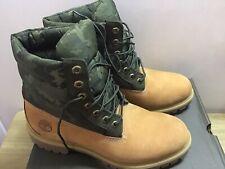 Timberland 6in Premium Waterproof Wheat Puffer Camo Mens Boots, UK 9.5 EU 44