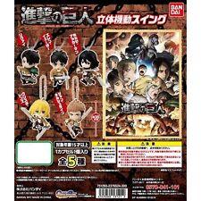 BANDAI Attack on Titan season2 3D Maneuver Swing Keychain Gashapon full set of 5