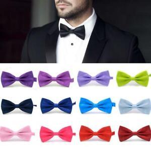 1PC Gentleman Men Classic Satin Bowtie Necktie For Wedding Party Adjustable Bow