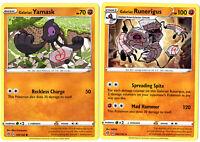 Rebel Clash - Pokemon Evolution Card Set - Galarian Runerigus 102/192 - Rare