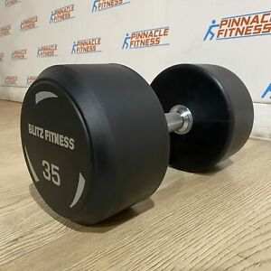 Round Rubber Dumbbells by Blitz Fitness
