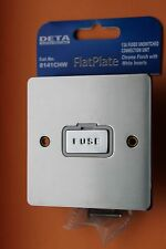 Deta 8141CHW Polished Chrome Flatplate 13a DP 1g Unswitched Fused Spur White Ins