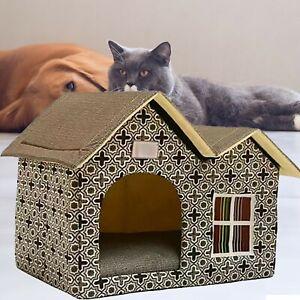 P^et House Cat House For Outdoors Indoor Winter Proof Cat Den Pet Outdoor Waterp