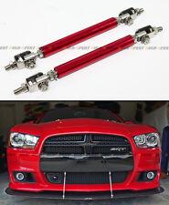 Red Adjustable Front Bumper Lip Splitter Strut Rod Tie Support Bar For Honda