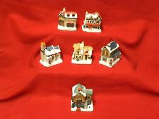 Lot of 6 hand painted cold cast cottages from A Dickens Christmas Collection