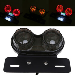 LED Tai light Red Brake License Plate Indicator Amber Turn Signals Fits Harley