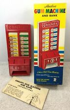 VINTAGE CHICLETS HASBRO TOY VENDING MACHINE & BANK CANDY DISPENSER DISPLAY BOX