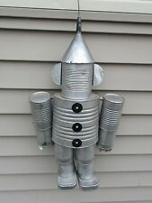 "Handmade Wizard of Oz Hanging ""Tin Man"" Garden Decoration - Tin Cans & Funnel"