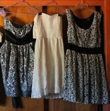 Prom/Wedding/Fancy Dress lot of 3 dresses size M short, strapless Buy 1 or all