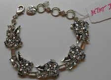 Betsey Johnson $55 Silver-tone Something New Crystal Flower Bracelet B10123-B01