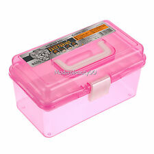 Multi Plastic Empty 2 layer Storage Case Box Nail Art Craft Makeup Collection