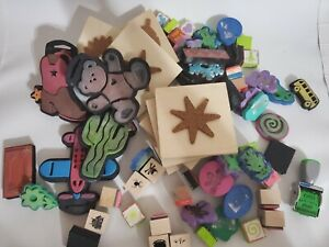 Large Lot of 65 Rubber/wooden Animal, holiday, outdoor Stamps craft lot