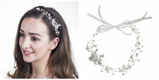 Wedding Hair Accessories UK Hair Vine Hairband Bridal Headband Flora Silver