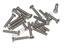 20-SS #10-24 x 1 HH HEX HEAD MACHINE SCREWS STAINLESS STEEL 18-8 BOLTS FASTENERS