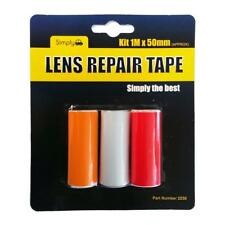 Simply Lens Repair Tape - Car Headlight Lens Tape - 3 Pack Red Amber Clear