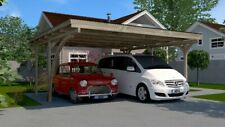 WEKA Flachdach-Doppelcarport 616 Flachdach Garage Überdachung Autogarage Auto