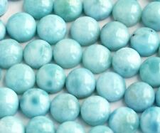 Natural Larimar 3X3mm To 15X15mm Round Cabochon Loose Gemstone