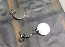 20 Metal Stamping Blanks Silver 12mm Blank Charms w/ Jump Ring Tags